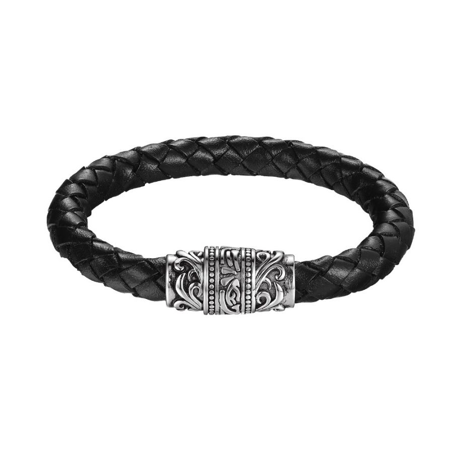 77b84080f Pánske náramky   INVICTO - pánsky kožený náramok v kombinácii s  chirurgickou oceľou, 21 cm   anion.sk - šperky, darčeky, klenoty, firemné  darčeky, ...