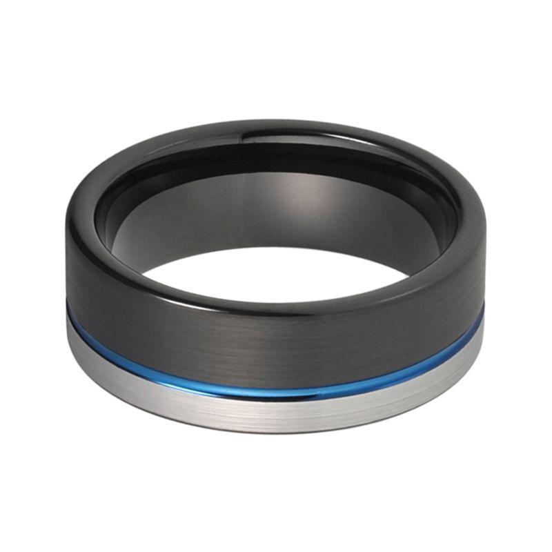 36c2bada1 BLACKNAR - pánsky WOLFRÁMOVÝ prsteň (čierno-modro-sivý) - veľkosť: 65